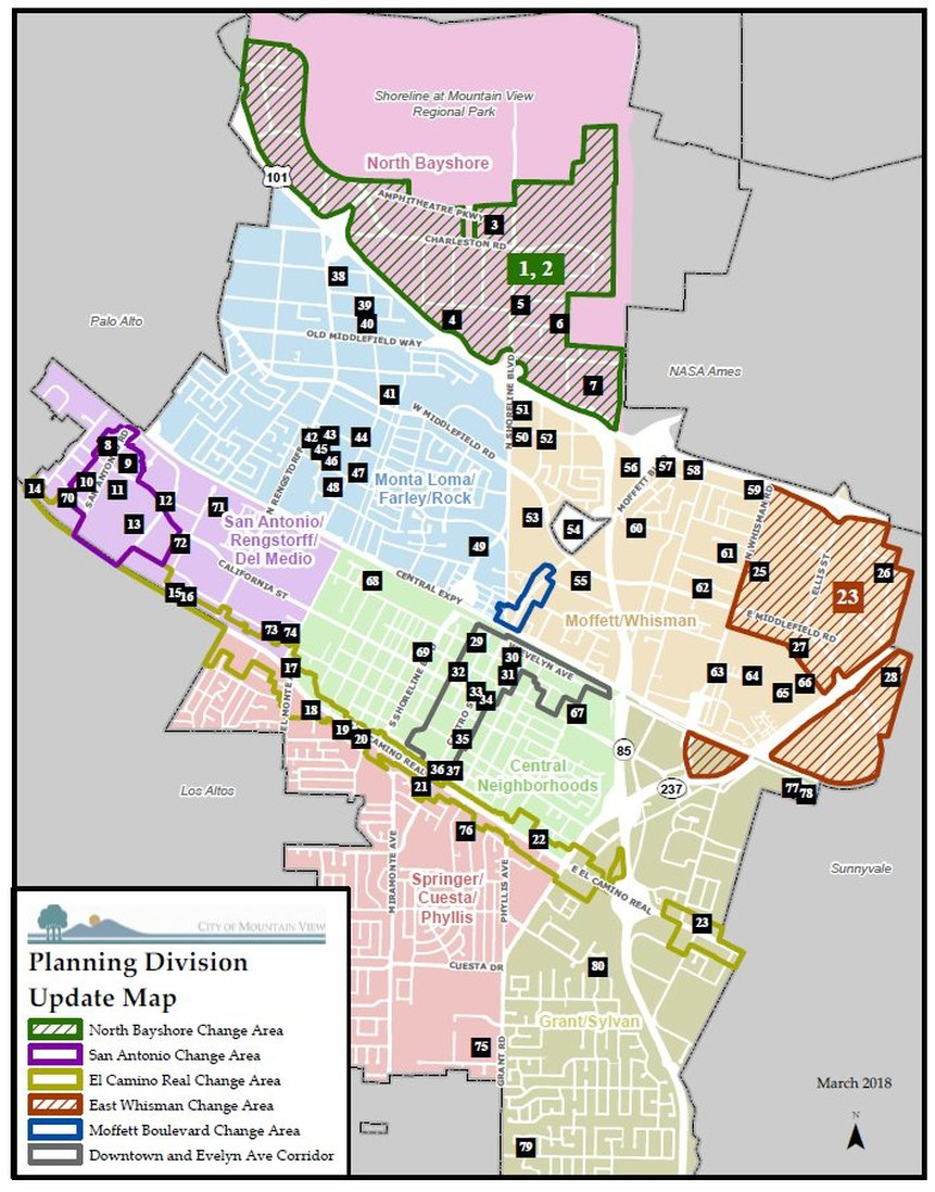 City of Mountain View Planning Division Update March 2018